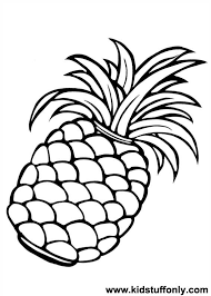 Small Picture cloringpages Pineapple Coloring Page KId Stuff Only