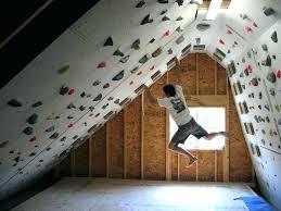 nice idea home rock climbing wall toddler holds diy