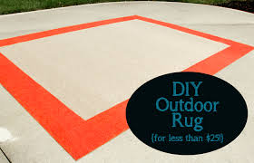 Diy Rug Diy Outdoor Rug For Less Than 25 Less Than Perfect Life Of