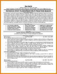 6 Event Planning Resume Precis Format