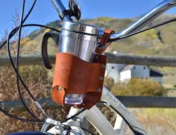leather bicycle cup holder by rocky mountain holster