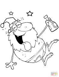 Small Picture Drunk Santa Claus coloring page Free Printable Coloring Pages