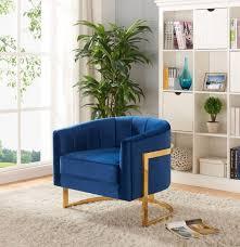 velvet accent chair. Meridian Furniture Carter Contemporary Navy Blue Velvet Accent Chair Reviews-515Navy-Accent-Chair