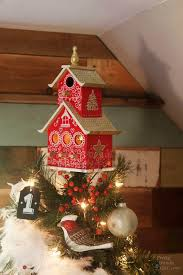 how to create a charming birdhouse tree topper