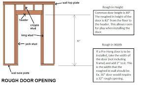 door framing dimensions door rough opening a single garage door framing dimensions