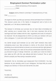 Termination Of Employment Letter Template Termination Of Employment Letter Template New Employment Separation