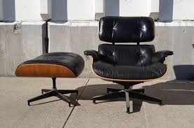 eames chair leather. Medium Size Of Herman Miller Eames Chair With Ottoman Walnut Frame Standard Leather Lounge F