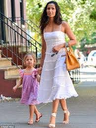 Adam Dell takes his daughter Krishna out for a luxurious lunch | Padma  lakshmi, Fashion, Curly hair baby boy