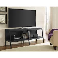 Ameriwood Home Lawrence 60 Ladder Tv Stand Black Walmart Intended For 65  Inch Entertainment Center Black Inch Tv Stand42