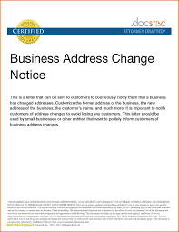 Change Of Address Who To Notify Letter Template For Change Of Address Notification New Letter Sample