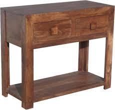 jaipur dakota walnut mango wood 2 drawer console table
