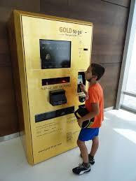 Gold Vending Machine Dubai Simple Gold Bars Dispensing ATM Machine On Top Of Burj Khalifa Dubai