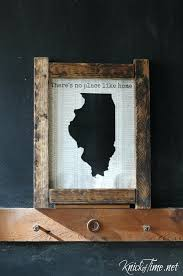 book page state shape wall art via of time wooden wooden state wall art