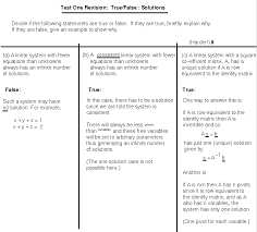 revision linear systems two solutions