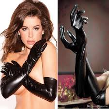 Fetish leather glove women