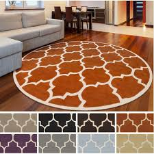 moroccan round hand tufted rug