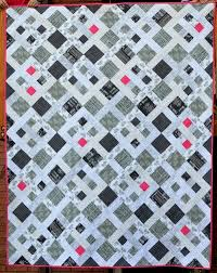 Black And White Quilt Patterns Beauteous Picket Fence Black And White Quilt FaveQuilts