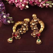 Designer Earrings Rings Designer Ear Studs From Manubhai Gold Earrings Designs
