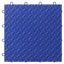 gladiator 24 piece 12 in x 12 in blue tread plate garage floor