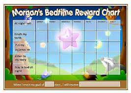 Bedtime Reward Chart A4 Personalise Bedtime Reward Chart Nightime Teddy Bear