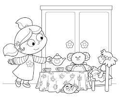 Small Picture Vibrant Tea Party Coloring Pages Tea Party Coloring Pages Birthday