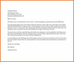 employment resignation letter template part time job resignation letter template