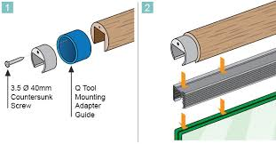 end cap for wooden channel handrail installation advice