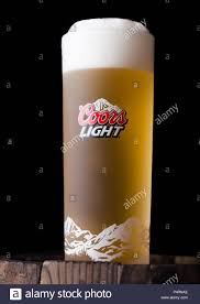 Coors Light Prices Uk London Uk June 06 2018 Cold Glass Of Coors Light Beer