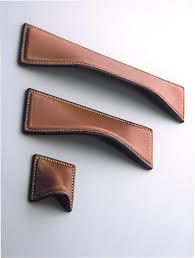 Kitchen Cabinet Handles Black Turnstyle Designs Savile Leather Cabinet Cup Handle Large Wave