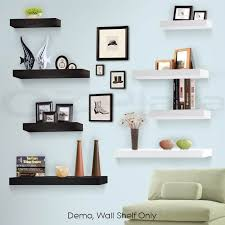pcs wall floating shelf set concealed shelves bookshelf shop