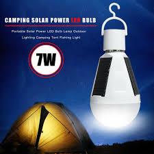 4x Solar Powered Led Bulb Light Portable Outdoor Garden Camping