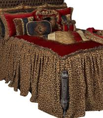 bedspread karlye designer bedding reilly chance collection leopard print old world red animal over sized