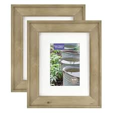 better homes gardens 8x10 5x7 rustic wood picture frame 2pk com