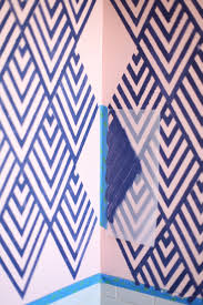 Wall Patterns With Tape Get The Look Of Wallpaper By Making Your Own Geometric Stencil