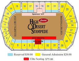 Stampede Rodeo Seating Chart 190107 Seating Map High Desert Stampede Professional Rodeo