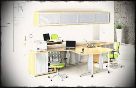 double desk home office. Grandiose Wall Mounted Cabinet With Sliding Frosted Doors Over Modern Pineputer Office Double Desk Low Back Home