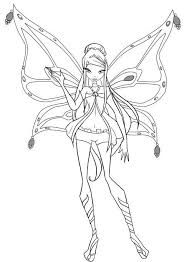 Winx Club Roxy Was Waving Hands Coloring Pages Coloring Pages
