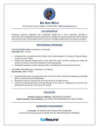 Big Bad Wolf Resume Makeover
