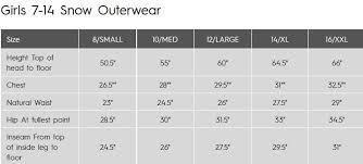 Snow Pants Size Chart Roxy Non Stop Bib Snow Pants Youth Girls
