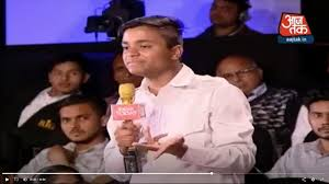 Aaj Tak Channel Spots Lone Anti Bjp Voice In A Crowd In Viral Video