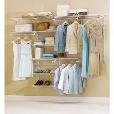 rubbermaid configurations custom 4 8 ft closet organizer kit white com
