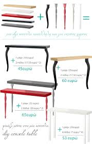diy console table from ikea shelf