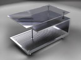 steel furniture designs. furniture design table with perforated element stainless steel designs m