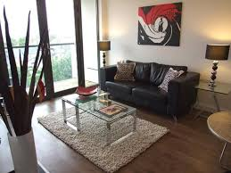 creative living room ideas design:  apartment living room ideas cool entrancing simple design transitional leather sofa decorate and shag carpet thick
