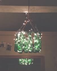 diy glass bottle chandelier my fair olinda with regard to bottle chandelier gallery 39
