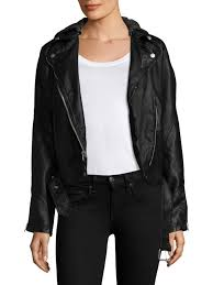 free people dy vegan leather hooded moto jacket black women s jackets vests faux authorized dealers