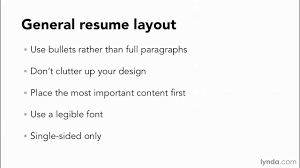 Resume Tutorial General Resume Layout And Design Principles