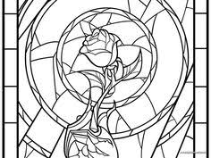 beauty and the beast rose birthday card on behance