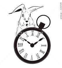 うさぎ 時計 イラスト 動物の写真素材 Pixta