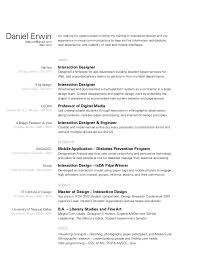 Resume Information Architect